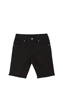 F&F Frayed Hem Shorts - Black