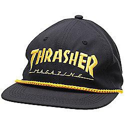 Thrasher Logo Rope Snapback Cap - Black Yellow Catalogue Number  481-6375 9fd5437f1bbd