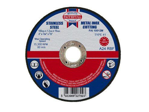 Faithfull Cut Off Disc for Metal 100 x 1.2 x 16mm