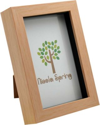 Light Wood Effect 4x6 Box Photo Frame - Standing & Hanging