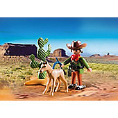 Playmobil Cowboy With Foal