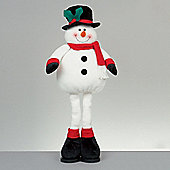 Standing Snowman with Top Hat Christmas Ornament