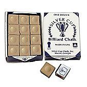 Silver Cup Billiard Chalk (12 Pieces) - Chalk Colour : Tan Chalk