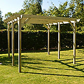 Garden Pergola 4.2m x 4.2m - Sculpted Rafter End