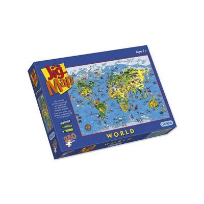 Jigsaw - The Jig Map - World 250pcs - Gibsons