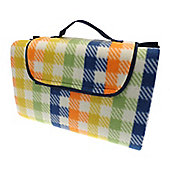 Country Club Family Size Beach & Picnic Blanket 150 x 200cm, Multi Check