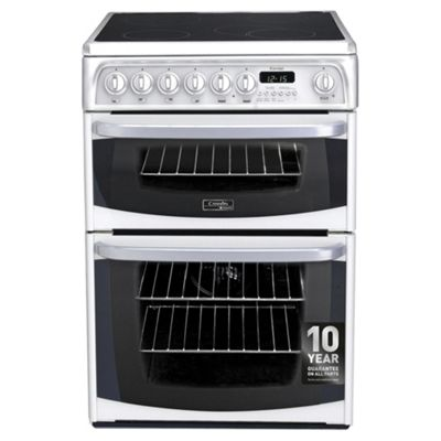 Hotpoint Cannon Electric Cooker, CH60EKWS, White