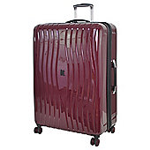 It luggage Gloss Large 8 wheel Hard Shell Zinfandel Purple Suitcase