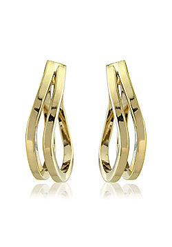 9ct Yellow Gold Twisted Hoops Earring