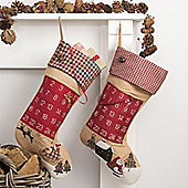 Traditional Advent Stocking - Sleigh