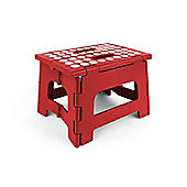 Kikkerland Rhino Folding Footstool in Red, Holds 135kg ZZ12-R