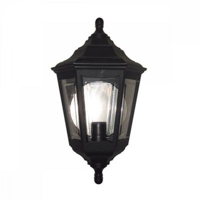 Black Flush Lantern - 1 x 100W E27
