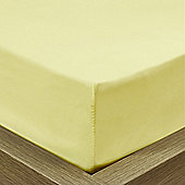 Julian Charles Luxury 180 Thread Count Fitted Sheet - Lemon