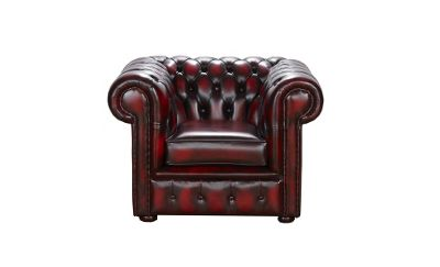 Snug City Club Chair Antique Leather Chesterfield Sofa, Made In the UK.