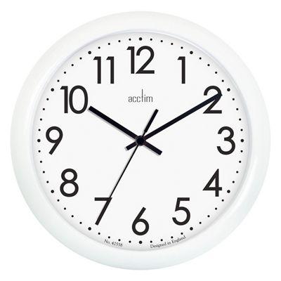 Acctim 21892 Abingdon White Wall Clock 255mm diameter