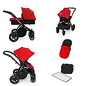 ickle bubba Stomp V2 All in One Travel System - Red (Black Chassis)