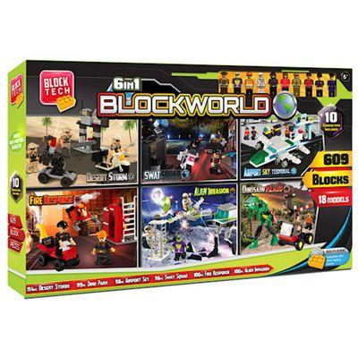 Block Tech 6-in-1 Blockworld Mega Box - 588 Pieces