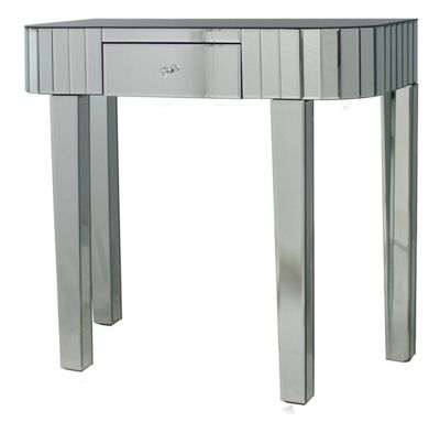Classic Mirror Tile Console Table