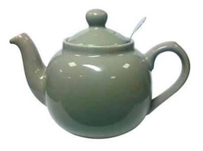 London Pottery Traditional 2 Cup Farmhouse Filter Teapot Grey 17272203
