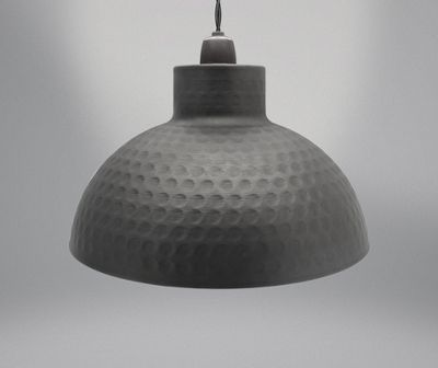 Country Club Metal Light Shade, Black Dome