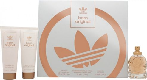 Adidas Born Original for Her Gift Set 50ml EDP + 75ml Body Lotion + 75ml Shower Gel For Women