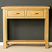 London Oak Console Table - Light, Lacquer Finish