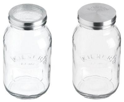 Kilner Steel Mesh Sifter / Sieve Jar - 1 Litre Capacity