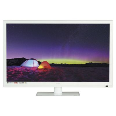 Technika 24E21W-FHD/DVD 24 Inch Full HD 1080p Slim LED TV / DVD Combi With Freeview - White