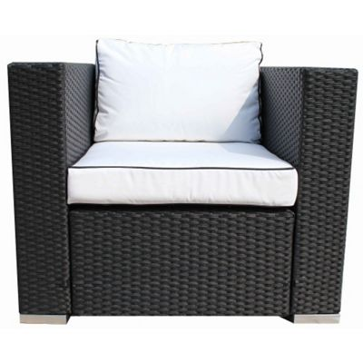 Ascot Armchair in Black and Vanilla