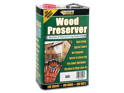 Everbuild Wood Preserver Fir Green 5 Litre