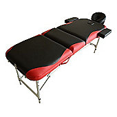 Homcom Light Weight Portable Massage Table Beauty Therapy - Black and Red