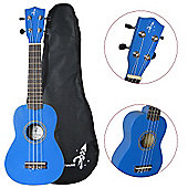 Rocket US10R Dark Blue Soprano Ukulele with Bag