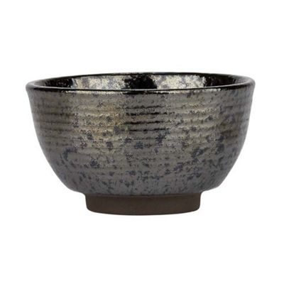 Bahne Bowl Small Handmade Black Metallic Birch 11x6cm