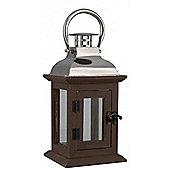 Lantern - New England Hanging Candle Holder - Bronze / Silver
