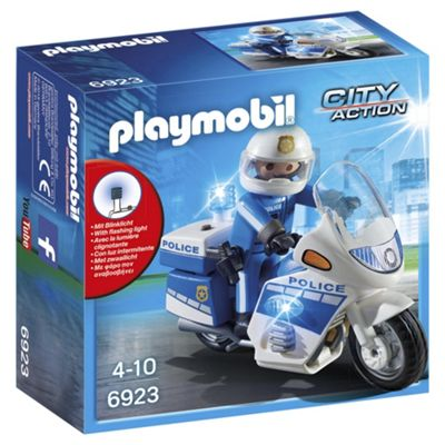 Playmobil 6923 City Action Police Bike with LED