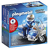 Playmobil City Action 6923 Police Bike with LED