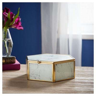 Fox & Ivy Hex Marble Box