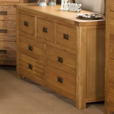 Elements Woodville Seven Drawer Wide Chest