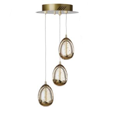 Litecraft Fargo 4 Bulb Bubble Glass LED Ceiling Pendant, Gold