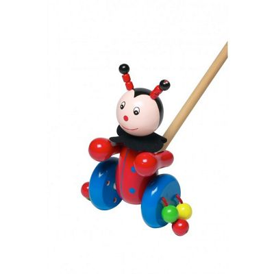 Orange Tree Toys Ladybird Push Along