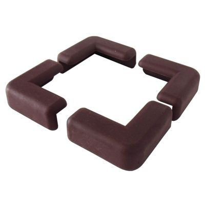 Ezy Child Safety Corner Protectors 4 Pack in Brown (RUBBER)