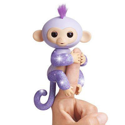 Fingerlings Glitter Baby Monkey with Blankie - Purple