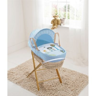 Kinder Valley Palm Moses Basket (Teddy in the Park Blue)