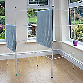 8M - 4 Fold Clothes Airer - White