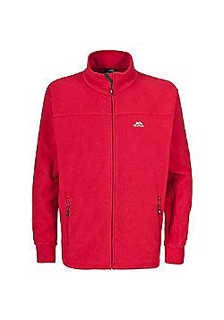 Trespass Mens Bernal Fleece Jacket Granite 3XL - Red
