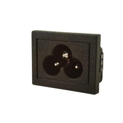 Snap-In Cloverleaf Mains Power Inlet