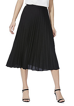 F&F Pleated Midi Skirt - Black