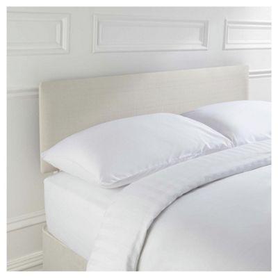 Seetall Mittal King Size Upholstered Headboard, Cream