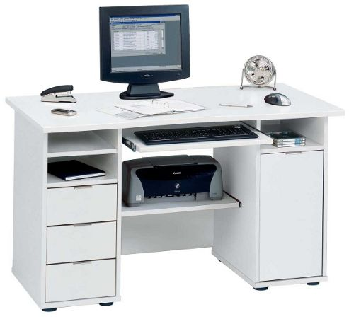 Jahnke CSL220 White Computer Desk