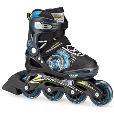 Rollerblade Bladerunner Phaser Boys Recreational Inline Skate - Black/Blue/Green - Small JNR 10-13